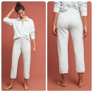 Anthropologie Stateside Terry Joggers in Mint